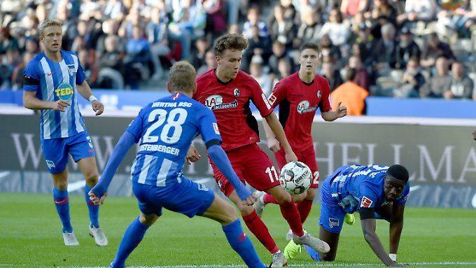 Führung, Schlendrian, Elferfrust: Freiburg raubt Hertha den Heim-Nimbus