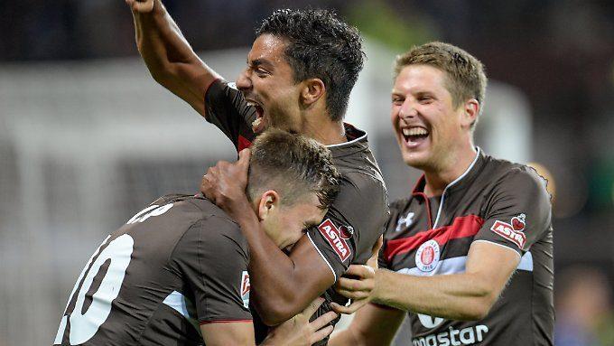 Später Siegtreffer in Duisburg: Joker Allagui köpft St. Pauli auf Platz drei