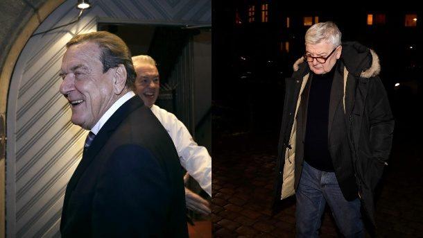 Alt-Kanzler Gerhard Schröder feiert Wiedersehensparty mit seinen Ministern