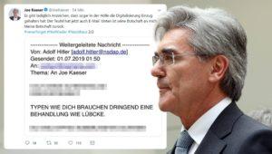 """Behandlung wie Lübcke"": Morddrohung gegen Siemens-Chef Joe Kaeser"